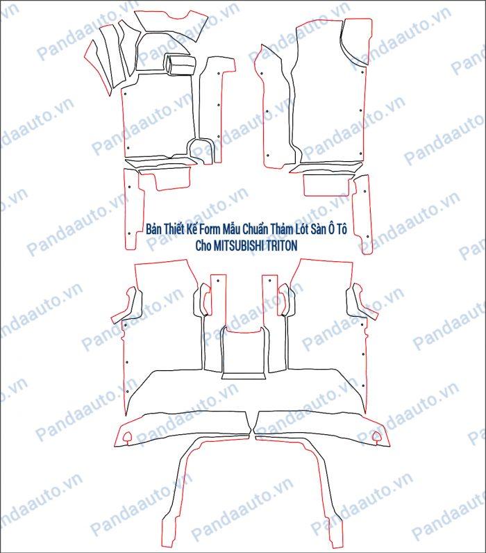 Bản thiết kế form mẫu chuẩn thảm 5D Triton