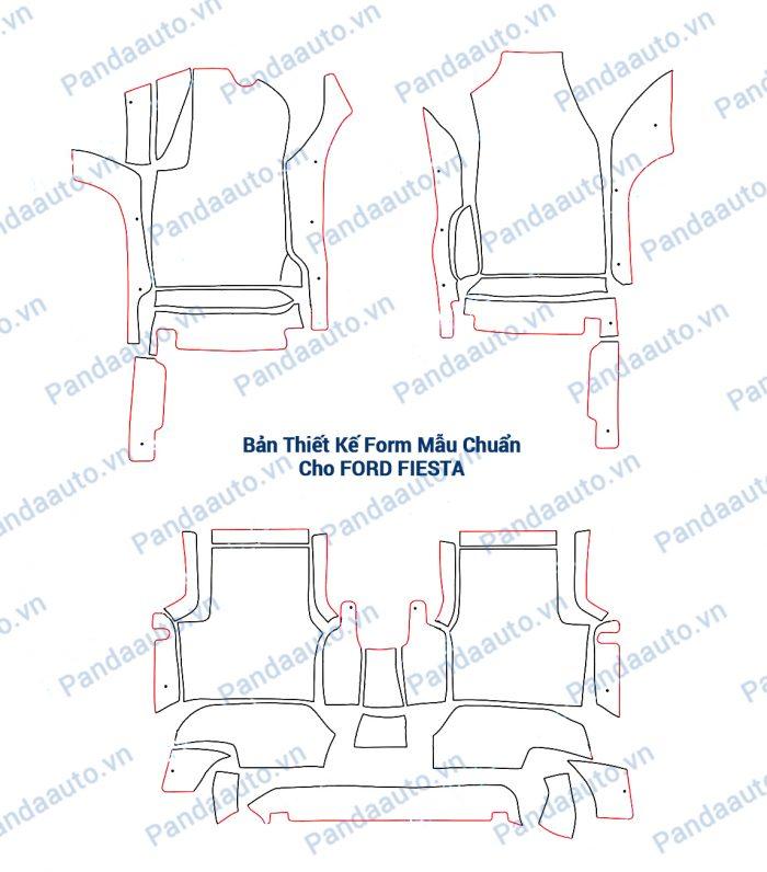 Bản thiết kế form mẫu chuẩn thảm 5D Ford Fiesta