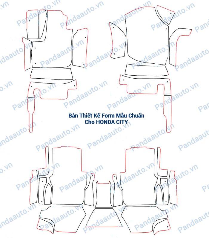 Bản mẫu form chuẩn thảm 5D Honda City