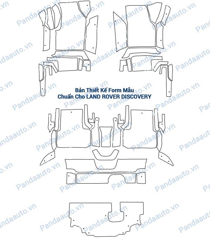 Bản thiết kế chuẩn thảm sàn 5D Discovery phù hợp với nội thất xe