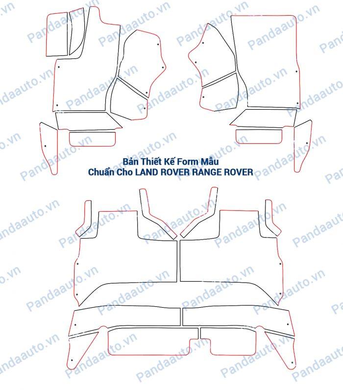 Bản thiết kế form mẫu chuẩn thảm 5D Land Rover