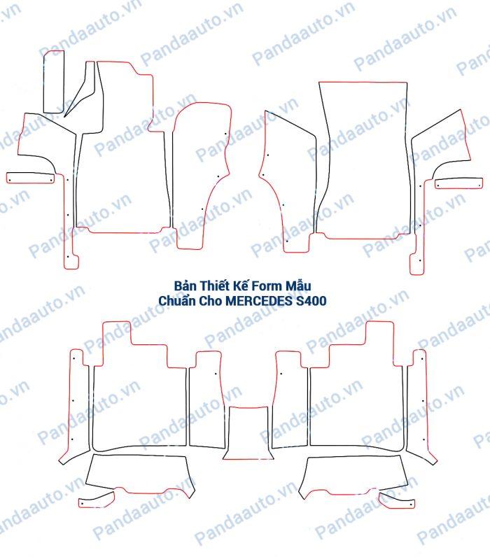 Bản thiết kế form mẫu chuẩn thảm 5D Mercedes S400