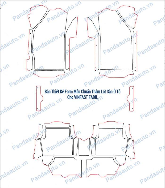 Bản thiết kế form mẫu chuẩn thảm 5D Vinfast Fadil