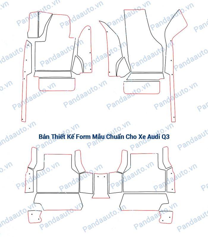 Bản thiết kế form mẫu chuẩn thảm 5D Audi Q3