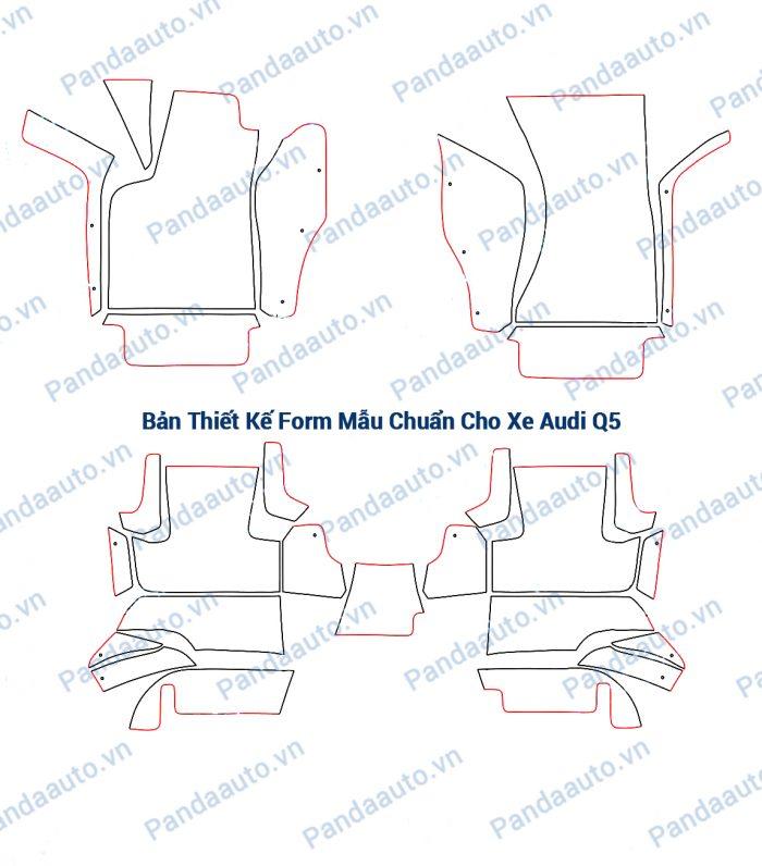 Bản thiết kế form mẫu chuẩn thảm 5D Audi Q5