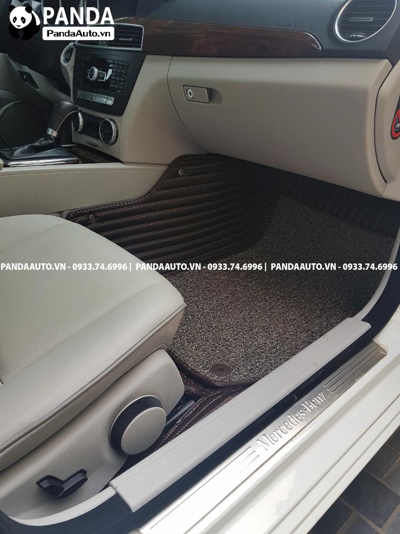Thảm sàn 6D Mercedes C200 C250 ghế phụ