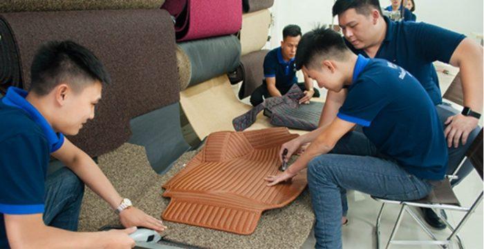 Lắp đặt và hoàn thiện thảm lót sàn 5D