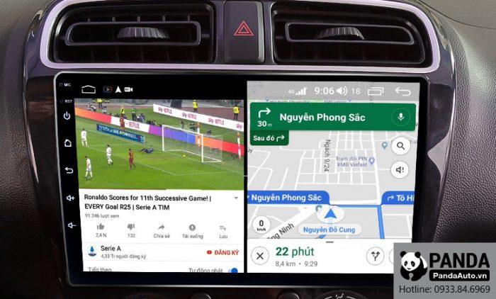 Chạy đa nhiệm ứng dụng trên màn hình Android cho xe Attrage