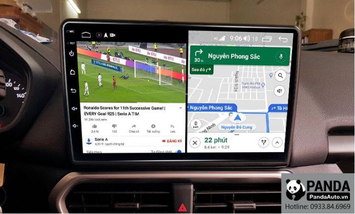 Chạy đa nhiệm ứng dụng trên màn hình Android cho xe Ford Ecosport