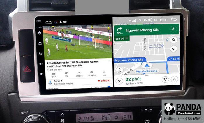 man-hinh-android-4G-cho-xe-Toyota-Prado-co-the-chay-da-nhiem-nhieu-ung-dung