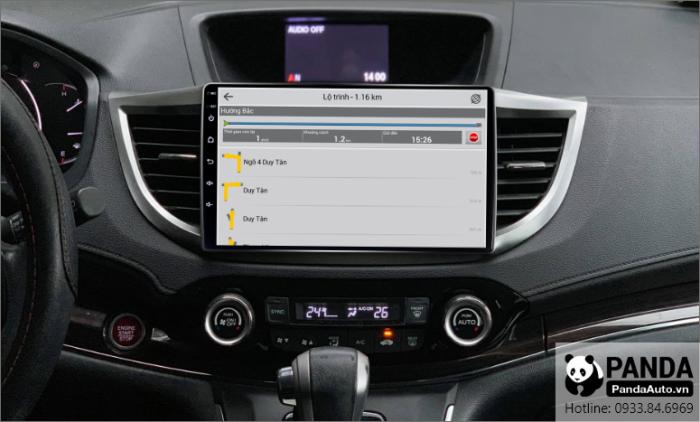 Chỉ đường thông minh trên màn hình Android cho xe Honda CRV 2013-2017