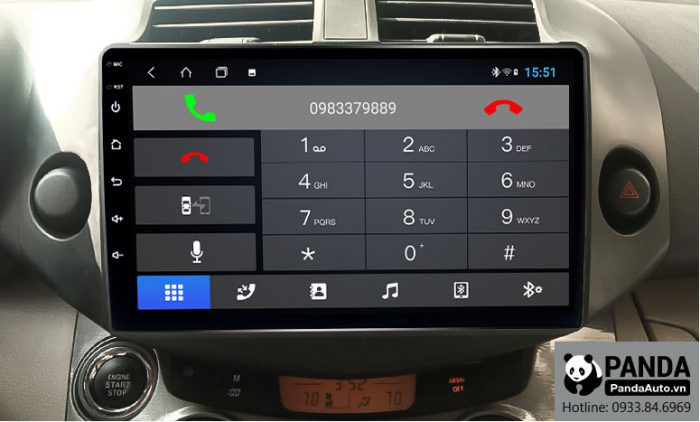 nghe-goi-dien-thoai-truc-tiep-tren-man-hinh-android-cho-xe-Toyota- RAV4