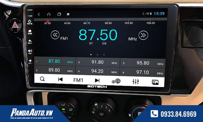 Màn hình ô tô cho xe Altis 2018-2019 hỗ trợ nghe đài FM như màn zin