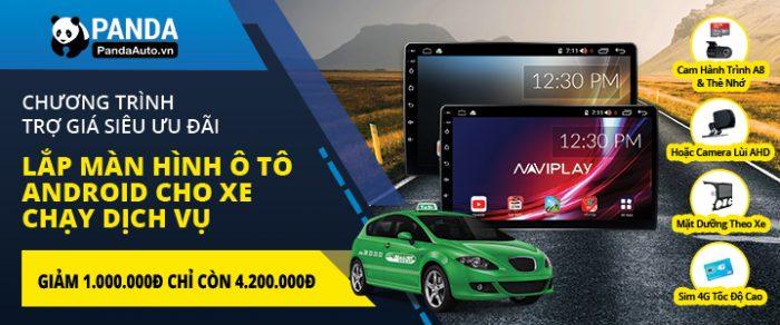 Trợ giá màn hình ô tô Android cho xe chạy dịch vụ