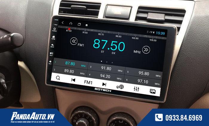 Màn hình android hỗ trợ hiển nghe Radio Fm