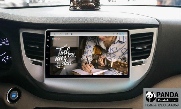 man-hinh-android-cho-xe-Hyundai-Tucson-cho-phep-nghe-nhac-zing-mp3