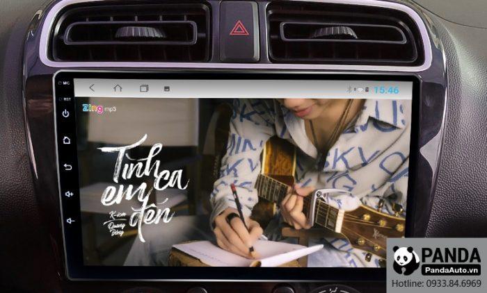Nghe nhạc zing MP3 trên màn hình Android cho xe Attrage