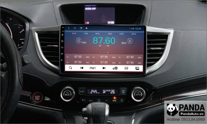 Nghe radio trên màn hình Android cho xe Honda CRV 2013-2017