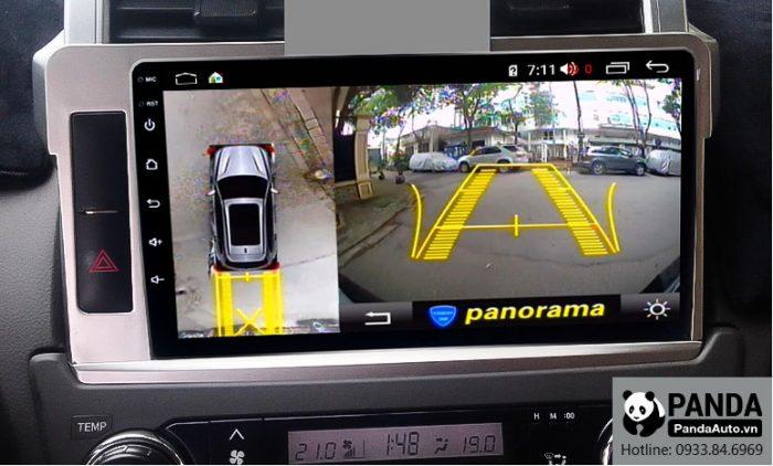 man-hinh-android-cho-xe-Toyota-Prado-tich-hop-camera