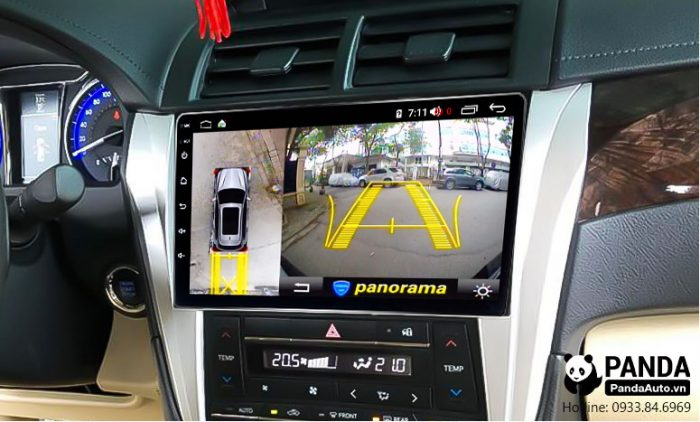 man-hinh-android-cho-xe-Camry-tich-hop-camera