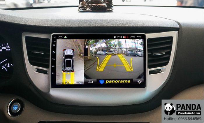 man-hinh-android-cho-xe-Hyundai-Tucson-tich-hop-camera