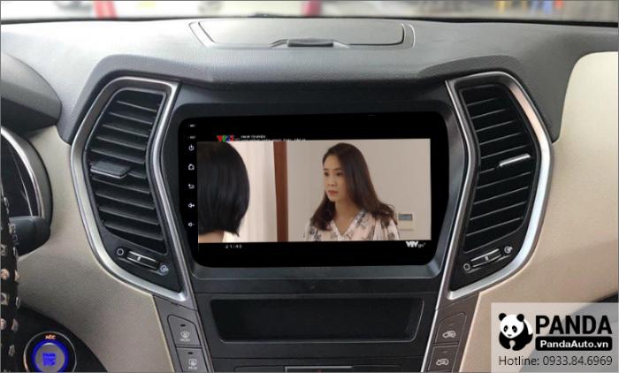 man-hinh-android-cho-xe-Hyundai-Santafe-ho-tro-xem-phim-giai-tri