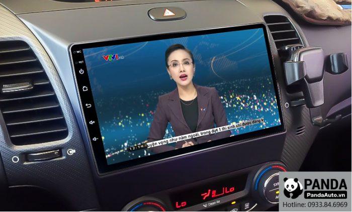 Xem thời sự VTV trực tuyến trên màn hình Android cho xe Kia K3 & Cerato