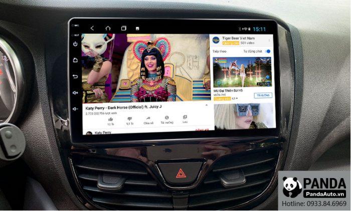 Xem youtube giải trí trên màn hình Android cho xe Vinfast Fadil
