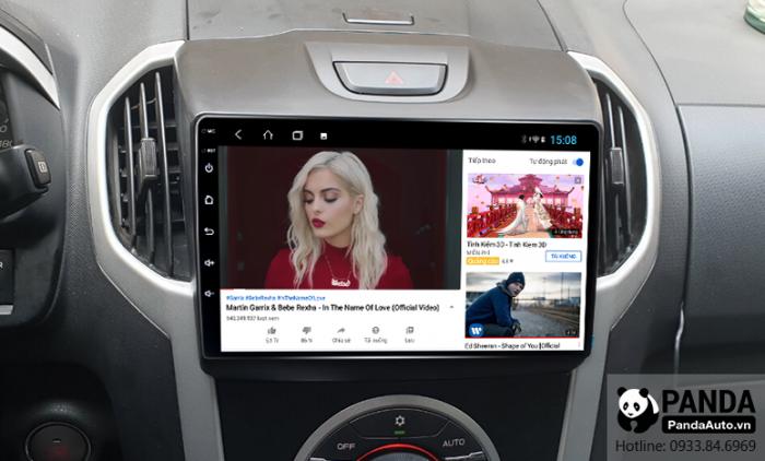 man-hinh-Android-cho-xe-Chevrolet-Colorado-ho-tro-xem-youtube