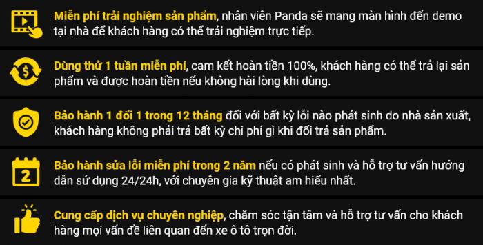 Cam kết của Panda Auto đối với những khách hàng lắp đặt màn hình