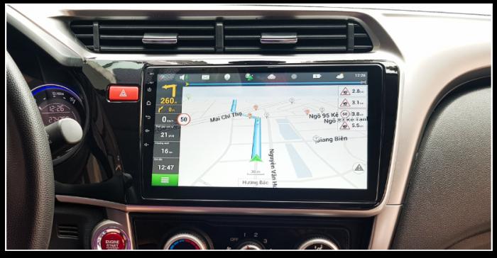 Màn hình DVD android 4G lắp đặt hoàn thiện trên xe