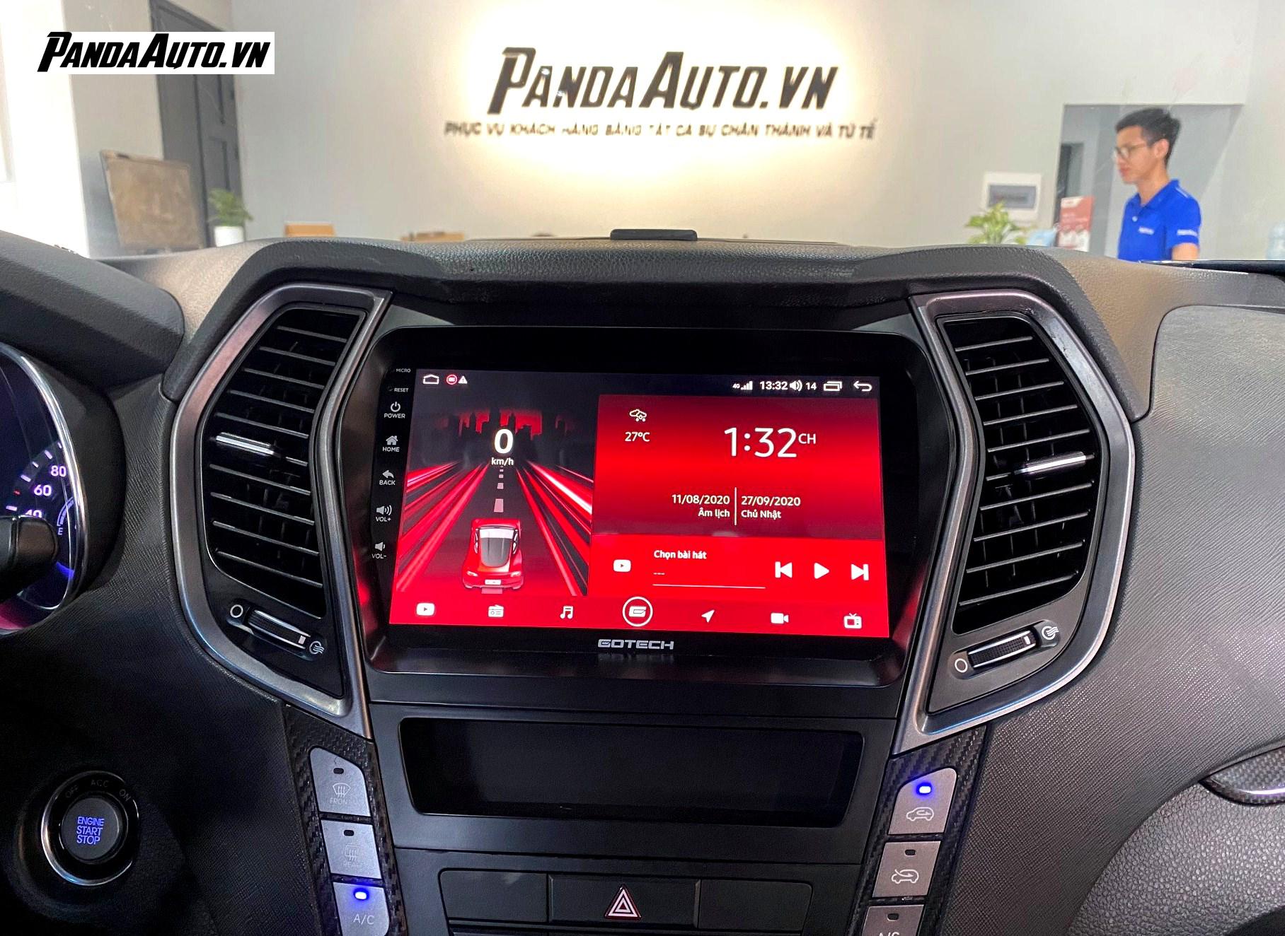 Lắp màn hình ô tô Gotech tại Showroom Panda Auto