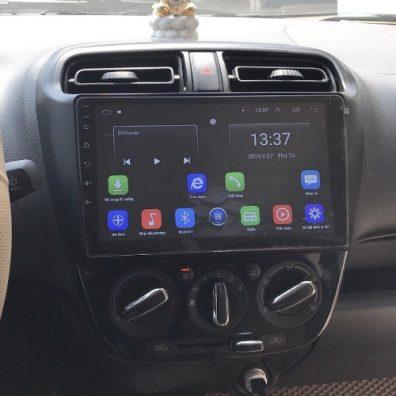 Màn hinh dvd android cho xe mitsubishi attrage 2017