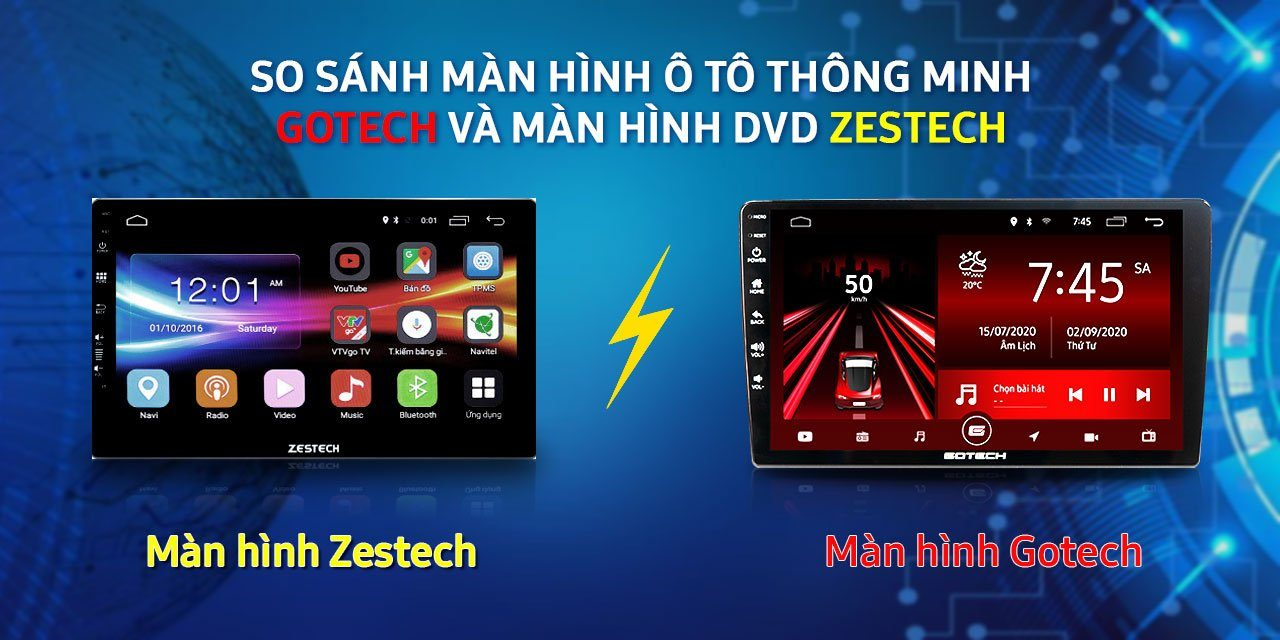 so-sanh-man-hinh-o-to-thong-minh-gotech-và-man-hinh-dvd-zestech-panda-auto